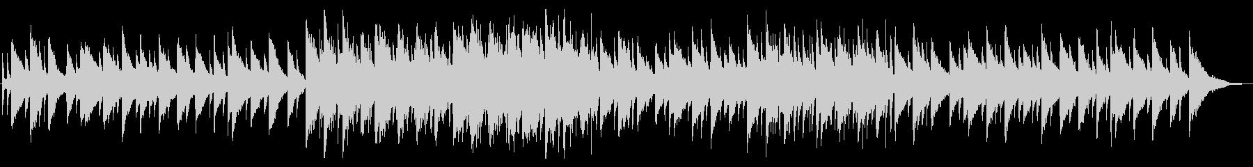 優しいピアノBGMの未再生の波形