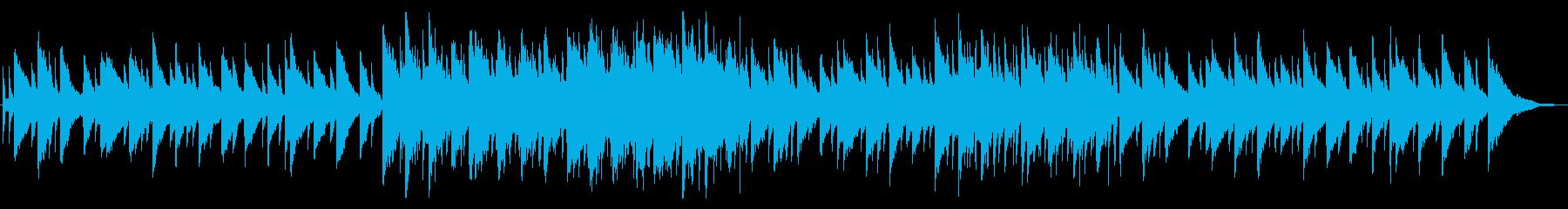 優しいピアノBGMの再生済みの波形