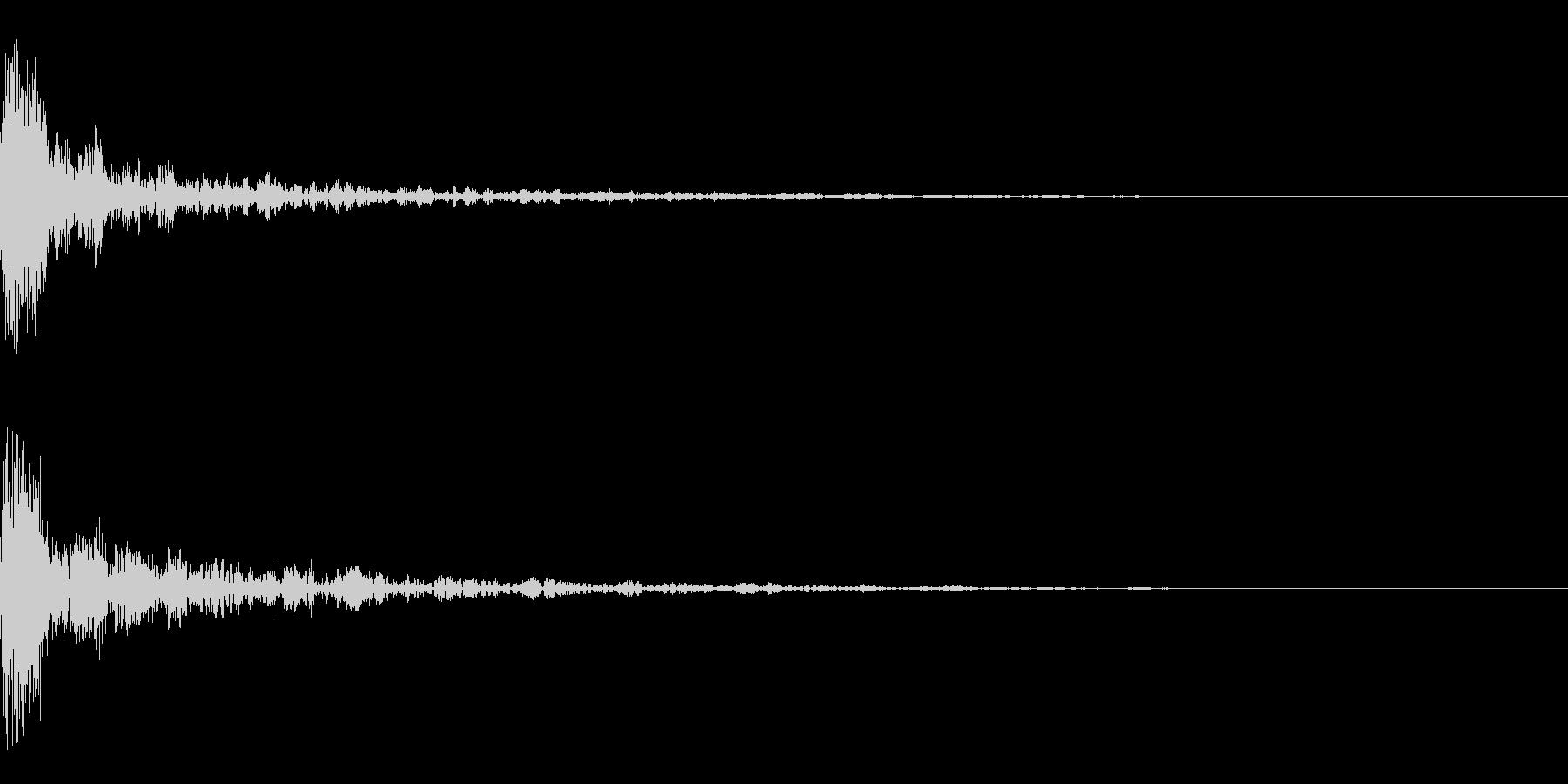 ドーン-22-1(インパクト音)の未再生の波形