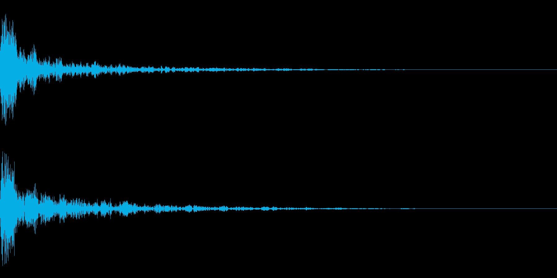 ドーン-22-1(インパクト音)の再生済みの波形