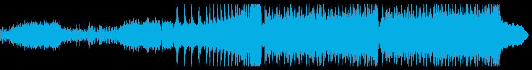 クールで重厚なロックの再生済みの波形