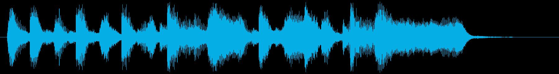 ハートフルなブラス&サックスのロゴ♪の再生済みの波形