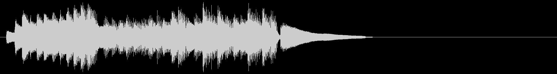 ミステリアスでダークなピアノのジングルの未再生の波形