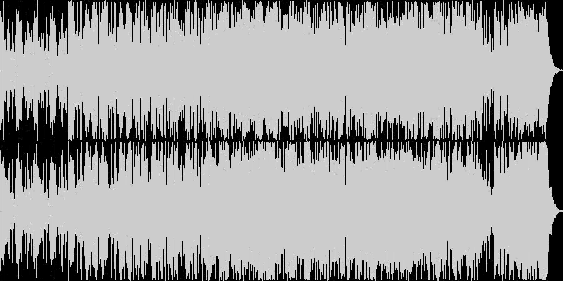 暗い緊張感のあるダークなイメージの曲の未再生の波形