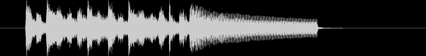 勢いあるリズミカルなピアノジングルの未再生の波形