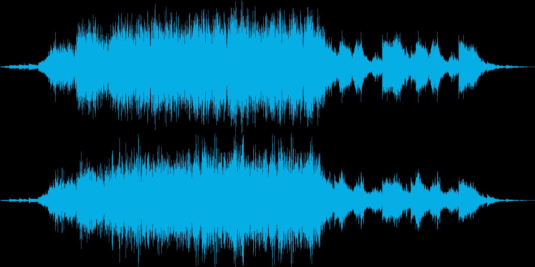 神殿の中に居るような雰囲気の幻想的BGMの再生済みの波形