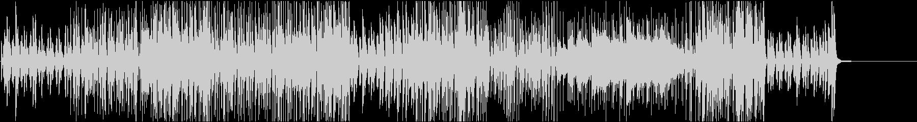 映像BGM 激しいピアノのジャズロックの未再生の波形