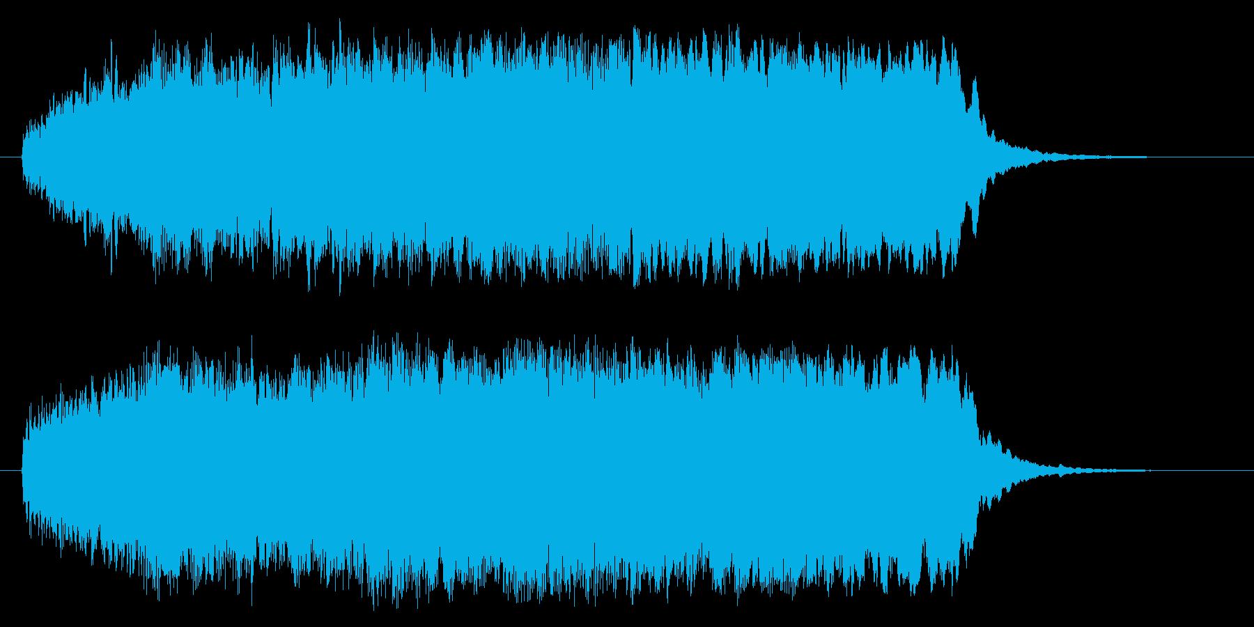壮大で豪華な管楽器シンセサウンドの再生済みの波形