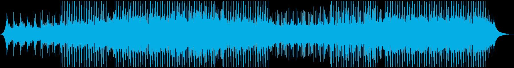 企業音楽の高揚の再生済みの波形