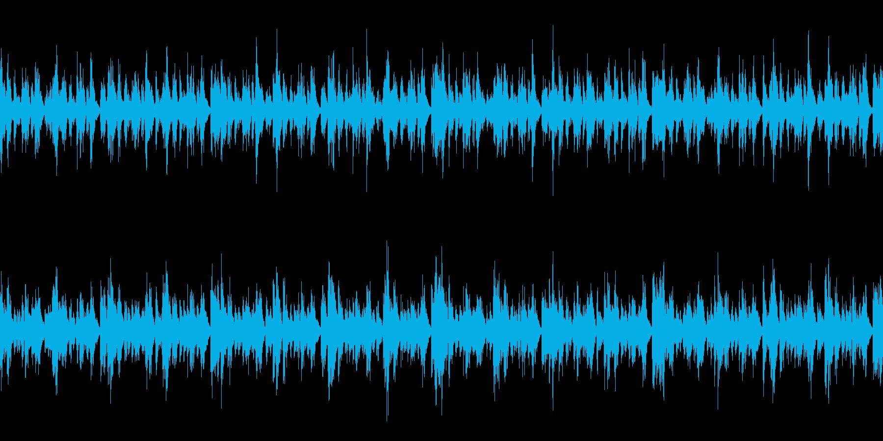 ほのぼの軽いループBGMの再生済みの波形