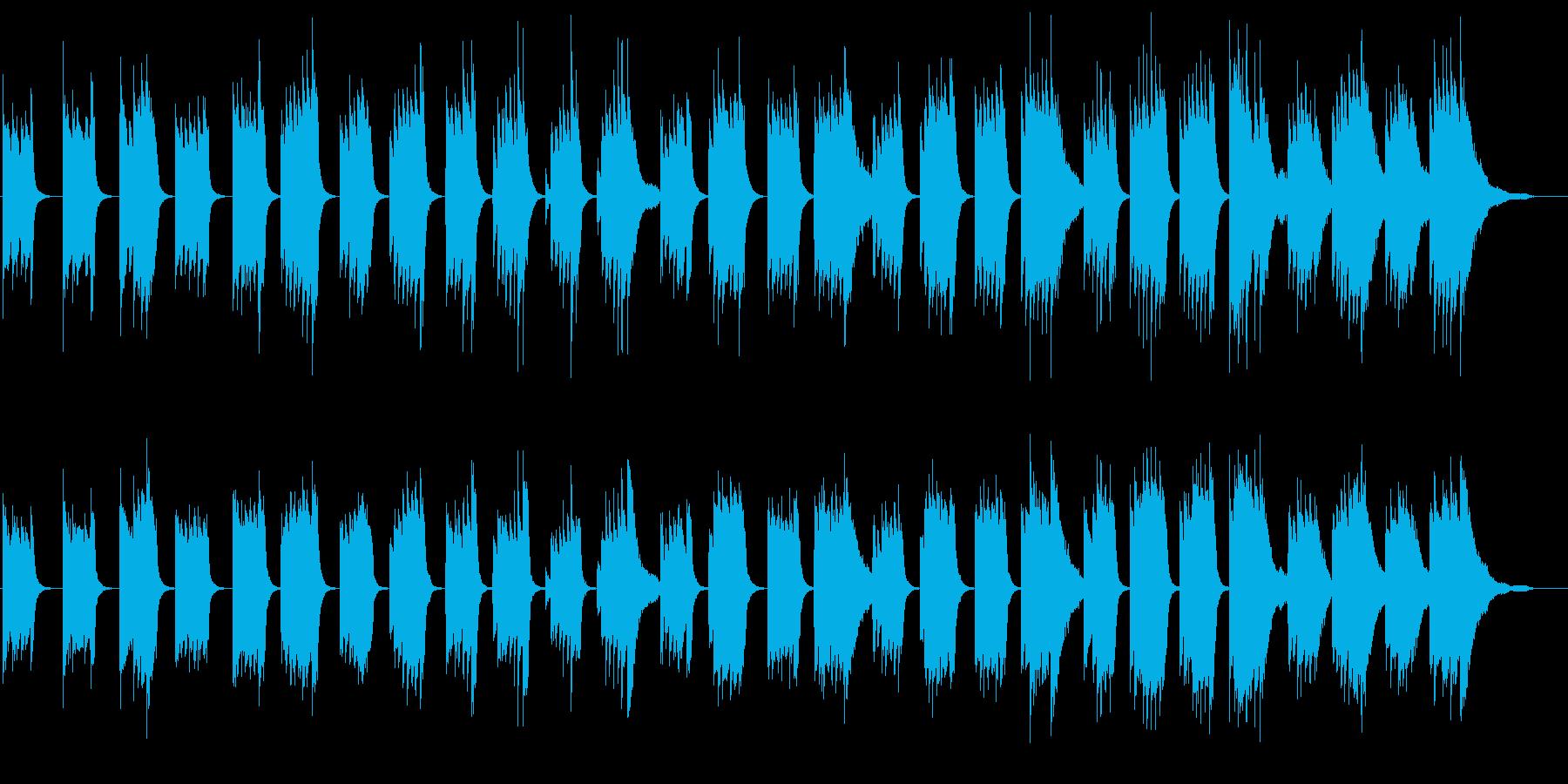 不気味さを感じさせるピアノソロ曲の再生済みの波形