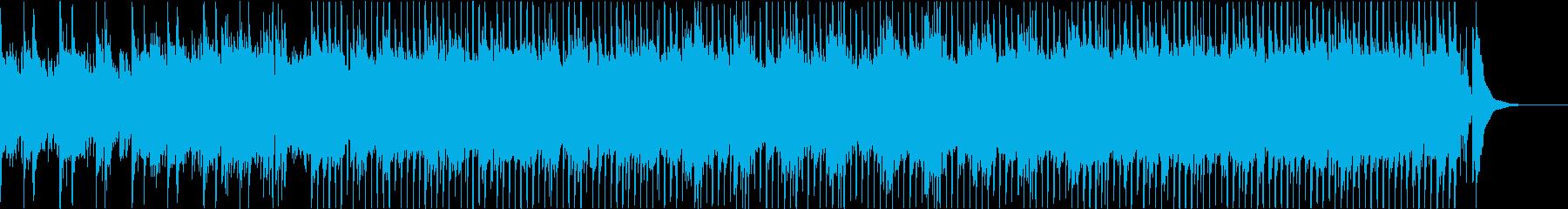 疾走感のあるアップテンポの和風ポップスの再生済みの波形