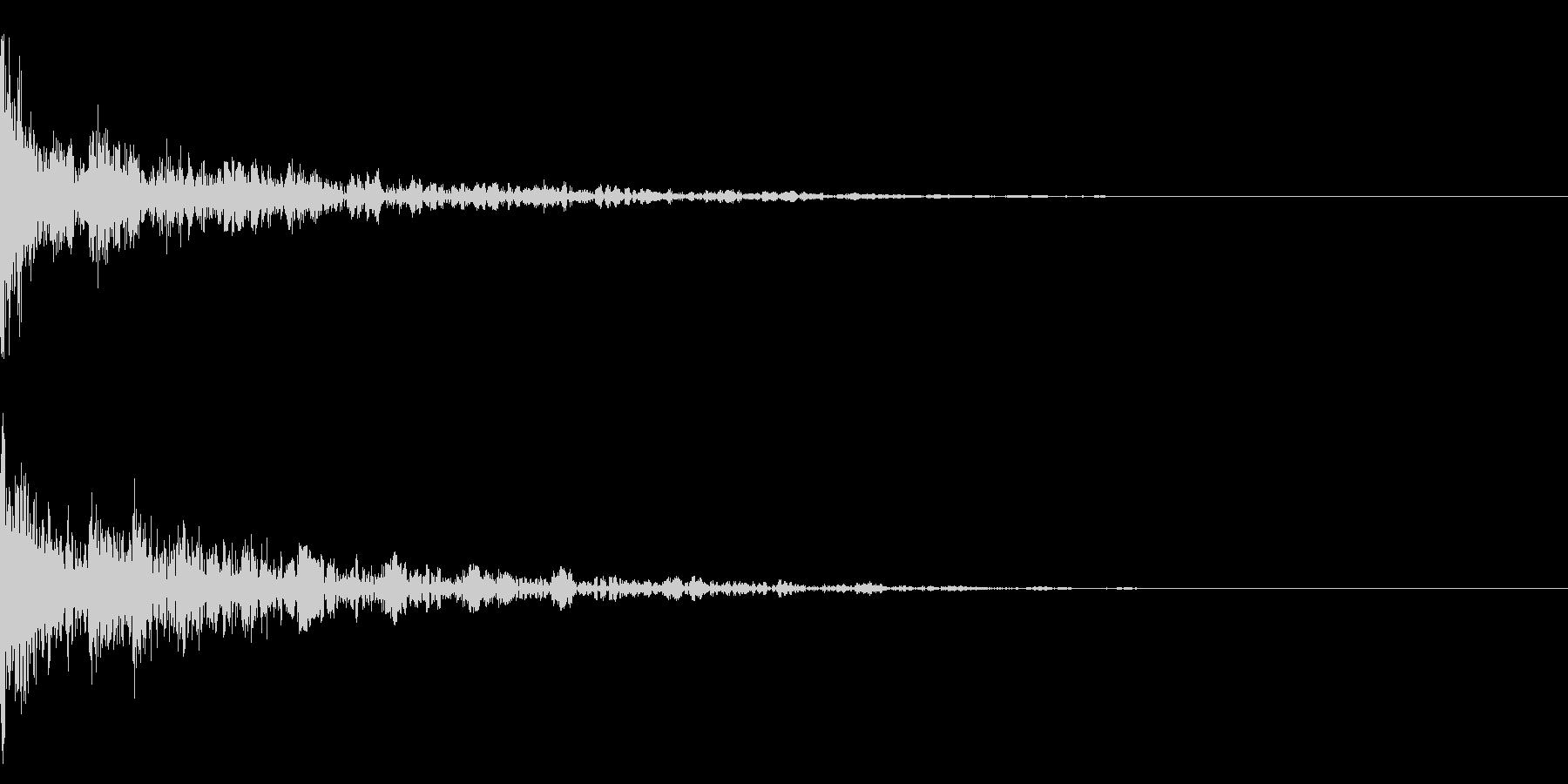 ドーン-40-2(インパクト音)の未再生の波形