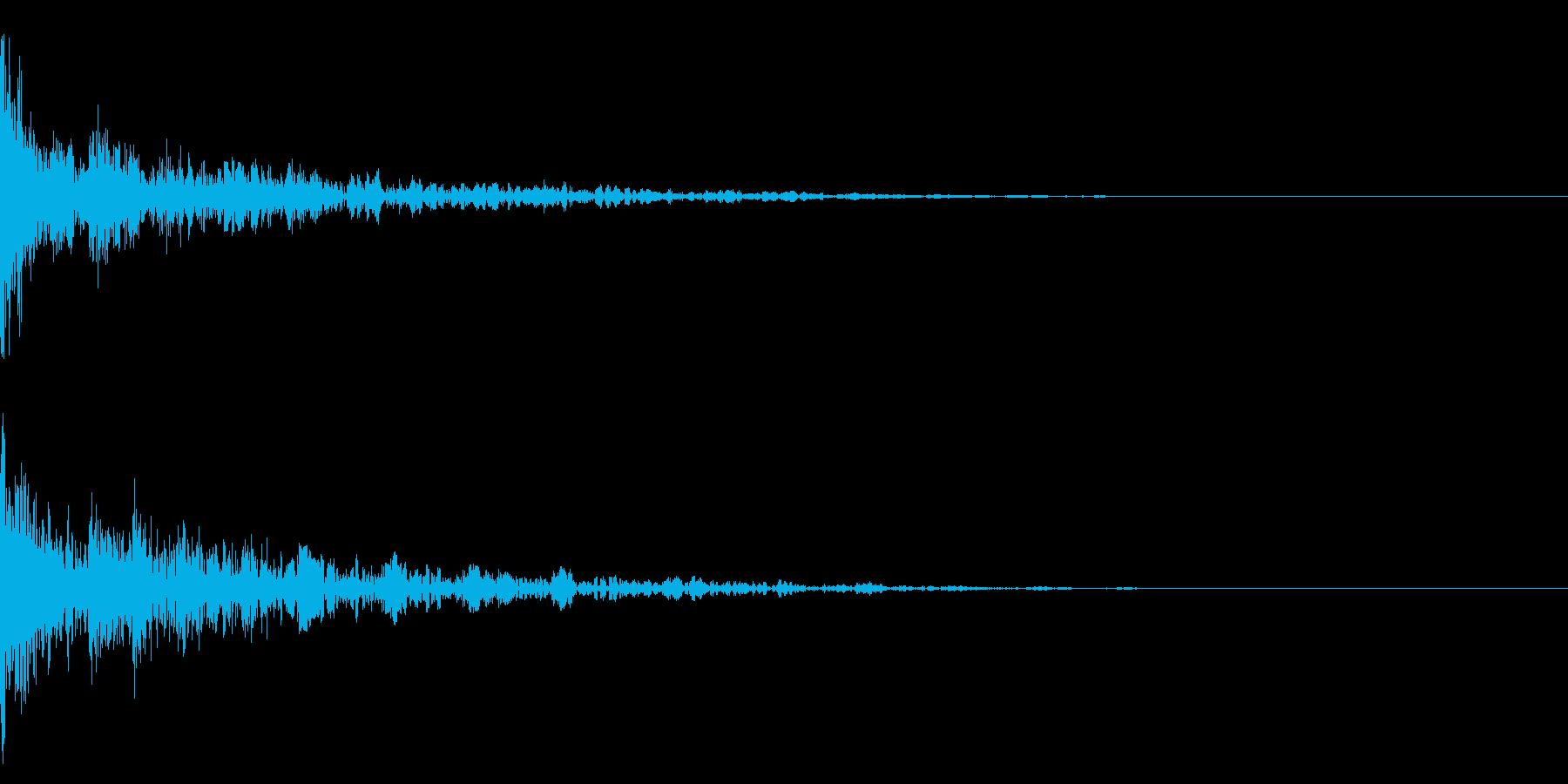 ドーン-40-2(インパクト音)の再生済みの波形