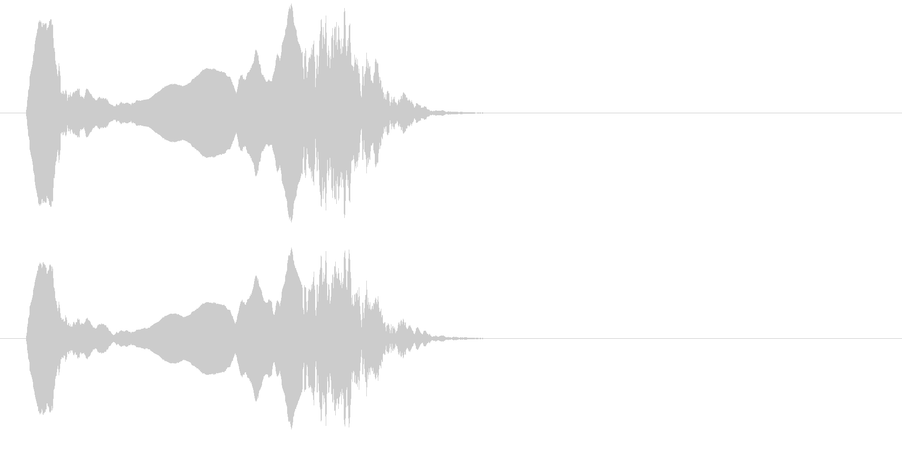 フレンチホーンモチーフ;衝撃的なモ...の未再生の波形