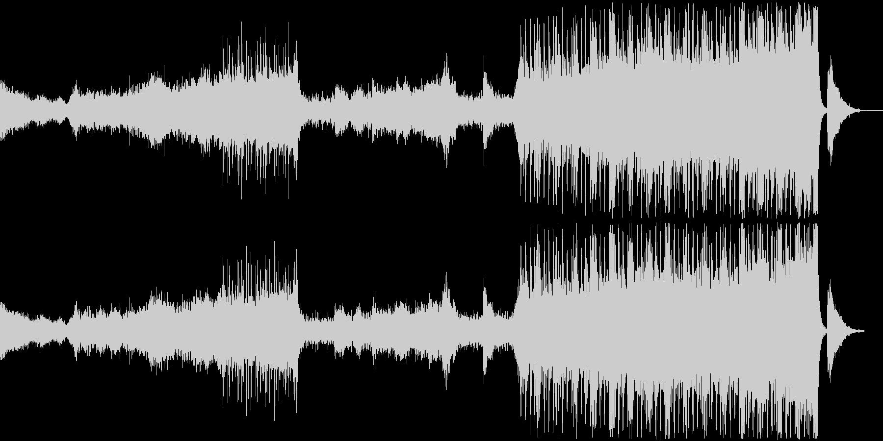 緊張感のあるエレクトリック&オーケストラの未再生の波形