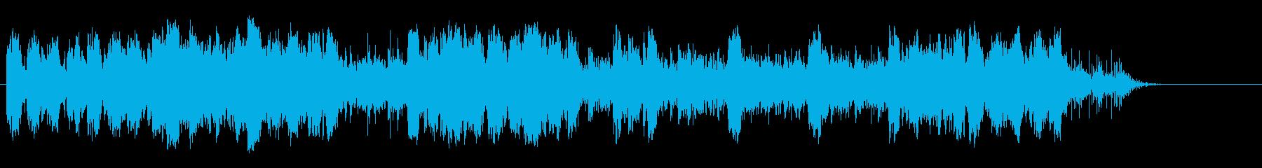 星に吸い込まれそうになる幻想的な環境音楽の再生済みの波形