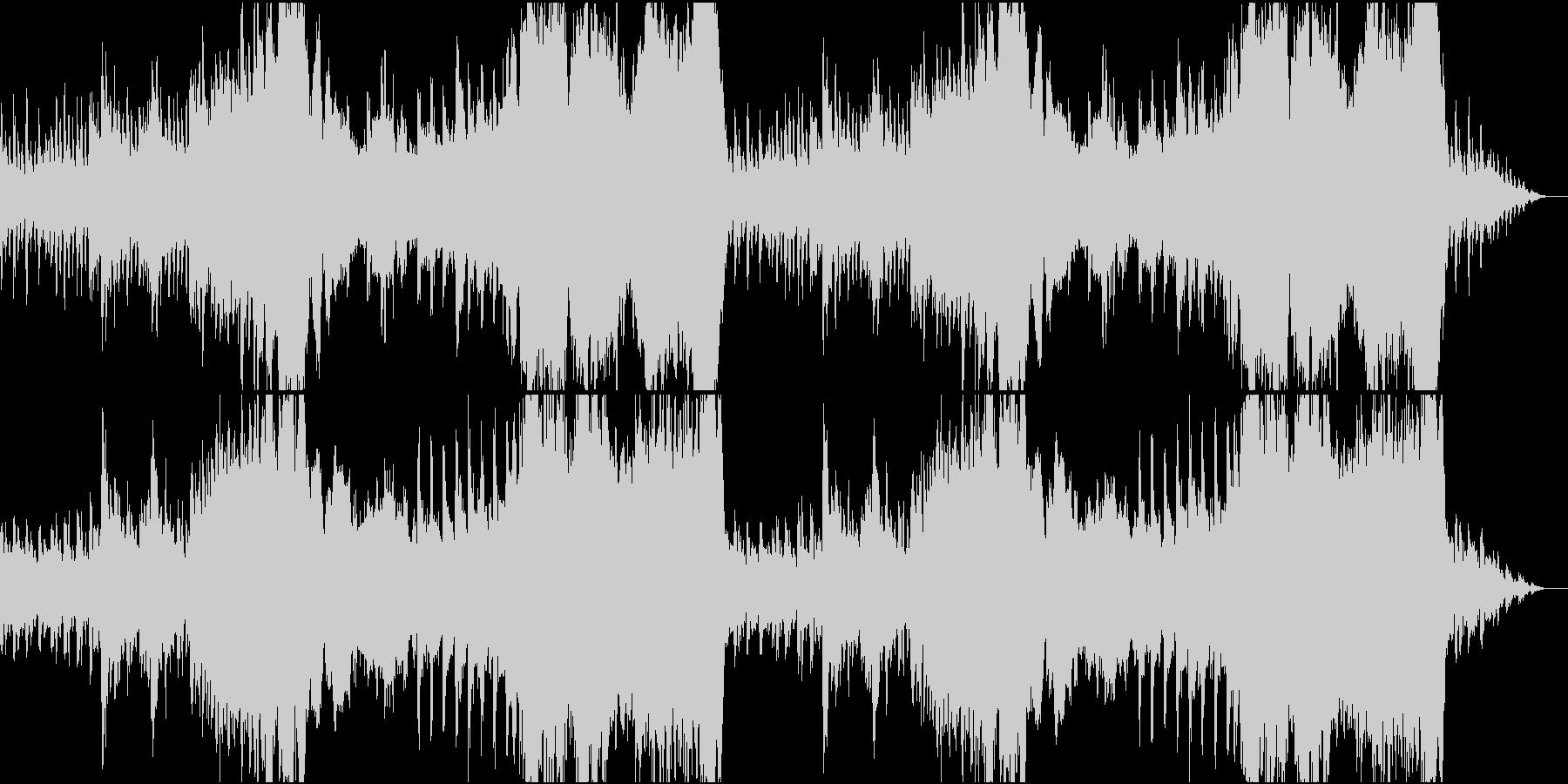 穏やかなファンタジー風オーケストラの未再生の波形
