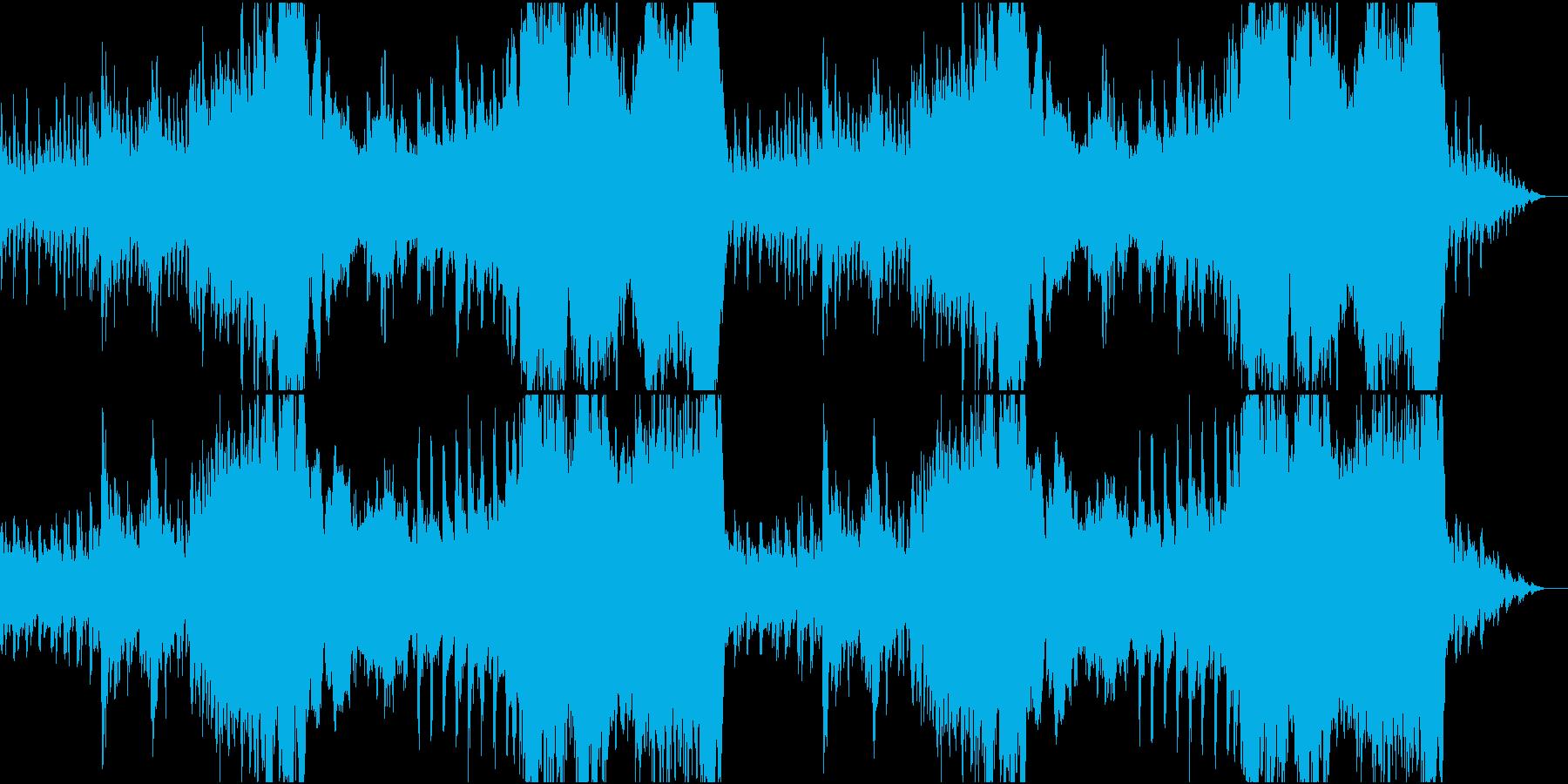 穏やかなファンタジー風オーケストラの再生済みの波形