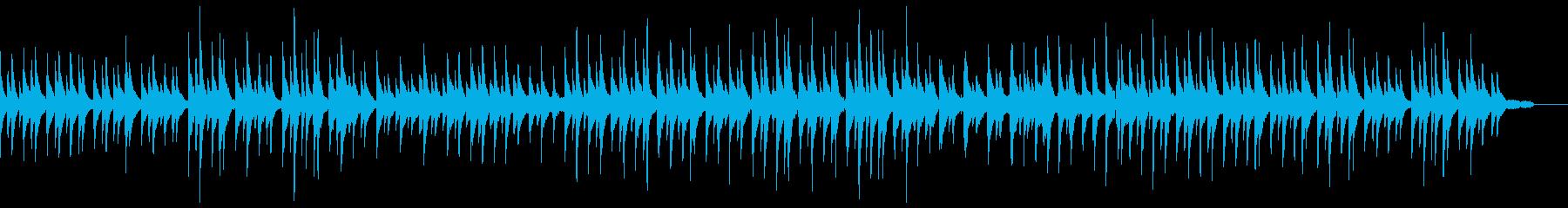 ピアノトリオ編成による静かなジャズワルツの再生済みの波形