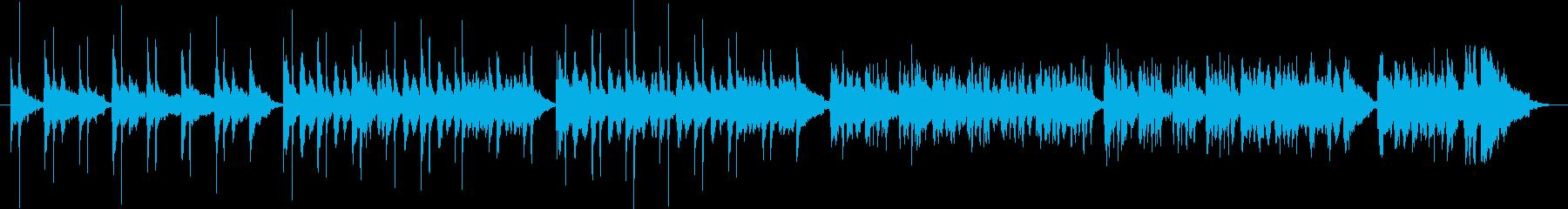 和楽器を使ったさくらさくら風の1分の曲の再生済みの波形