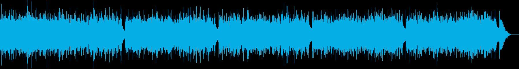 心癒されるヒーリングbgmの再生済みの波形