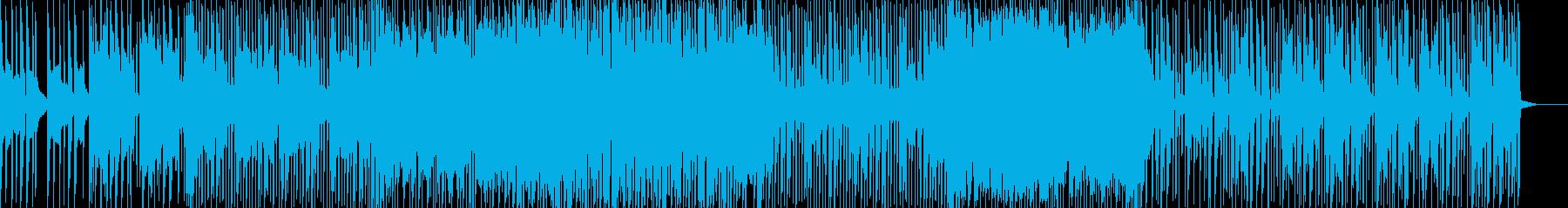 イントロのシンセ音が印象的なカッコイイ曲の再生済みの波形