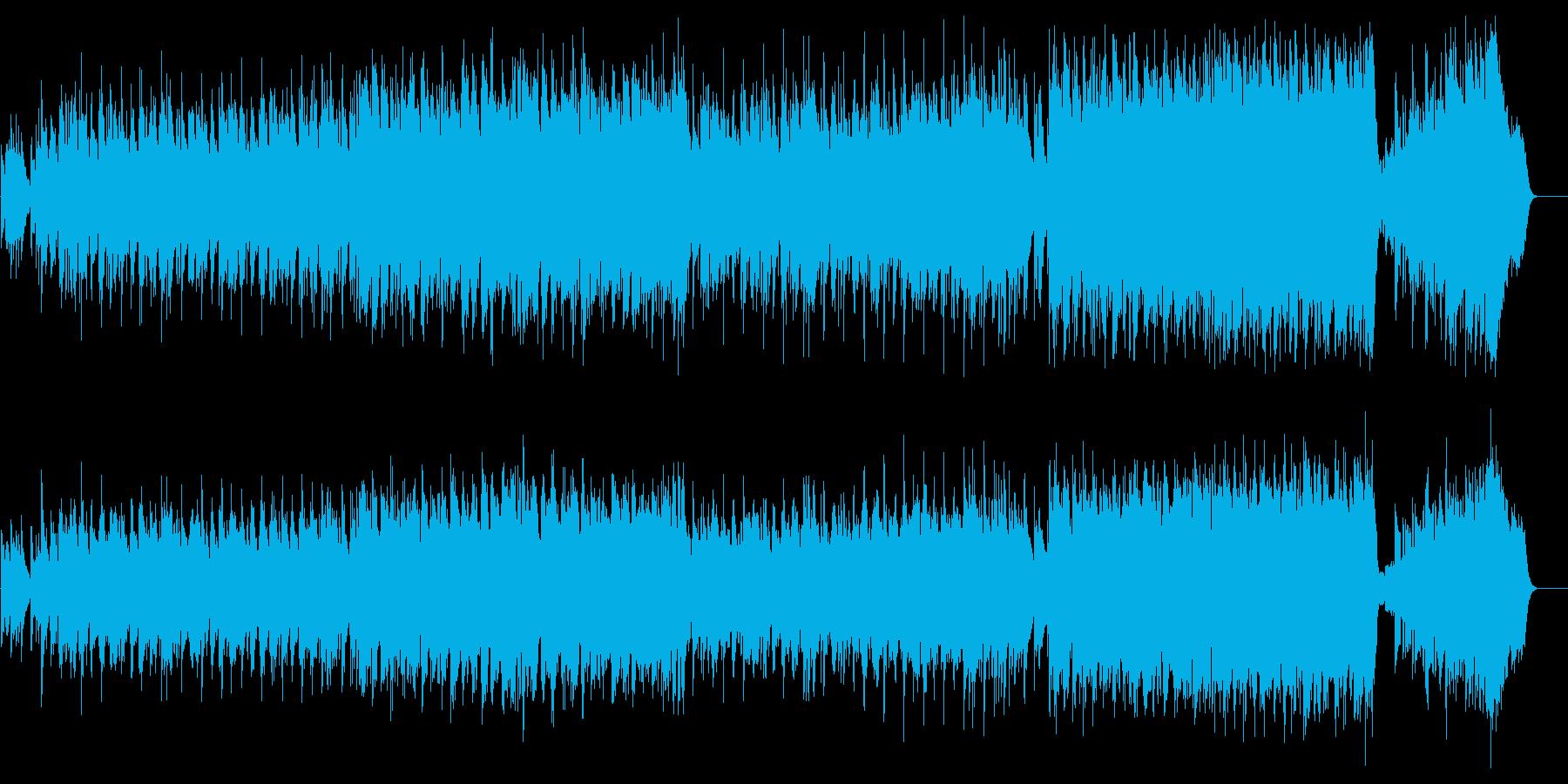 祭典向きウェディング風のバラードの再生済みの波形
