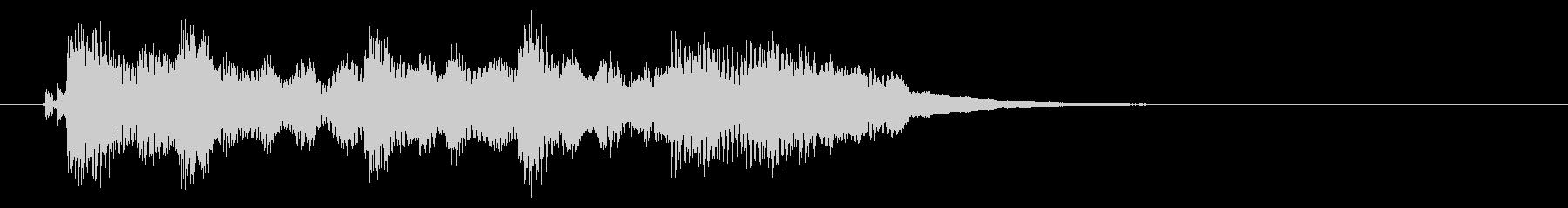コミカルなシンセリードのジングルの未再生の波形