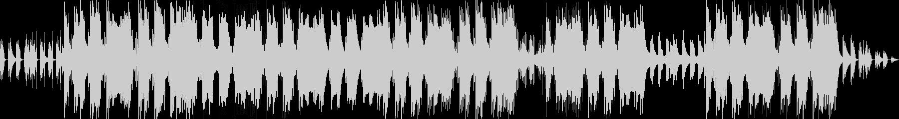軽快なギターのアルペジオのトラップの未再生の波形