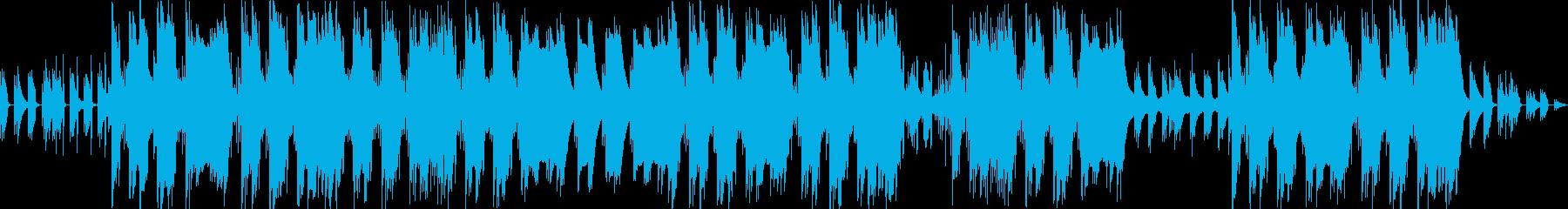 軽快なギターのアルペジオのトラップの再生済みの波形