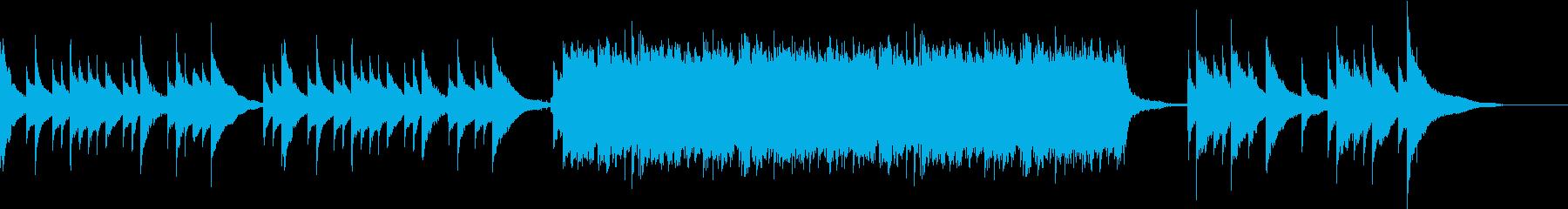 夏の終わりを表現した楽曲の再生済みの波形