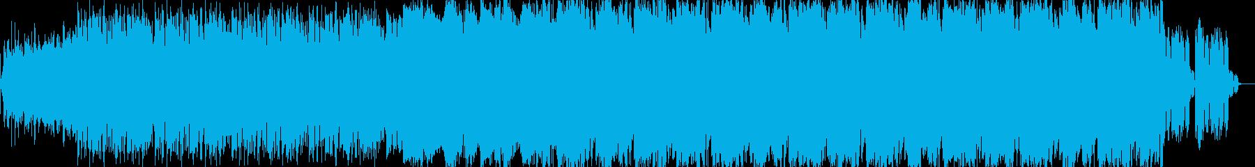 ミステリアスな曲調のサスペンス系BGMの再生済みの波形