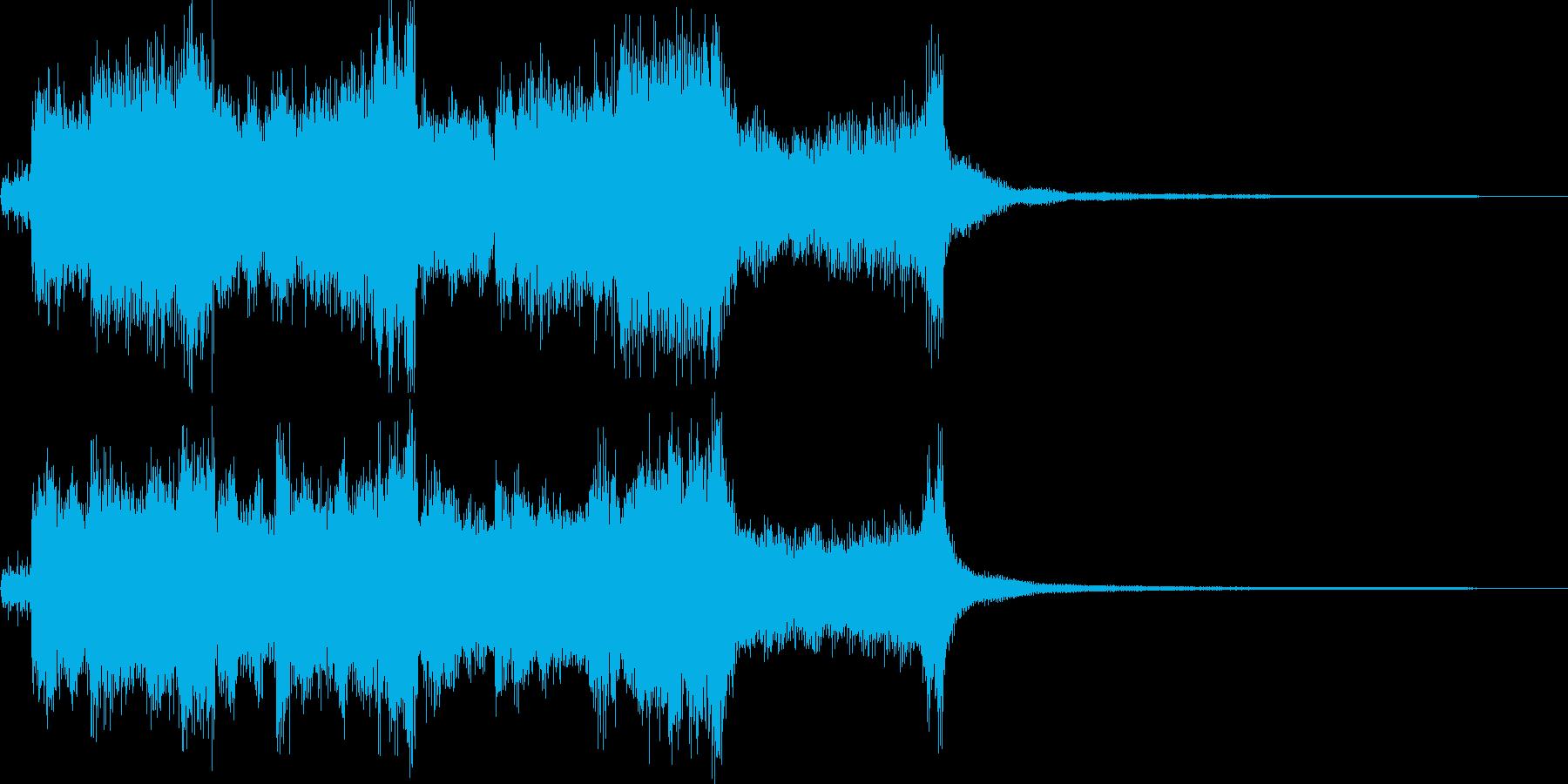 ダンジョン攻略 クリア RPGジングルの再生済みの波形