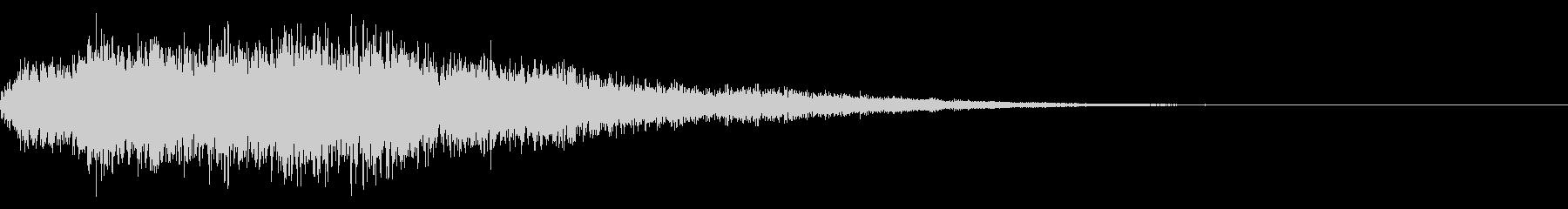 アイテム取得 セレクト 選択音 決定音の未再生の波形