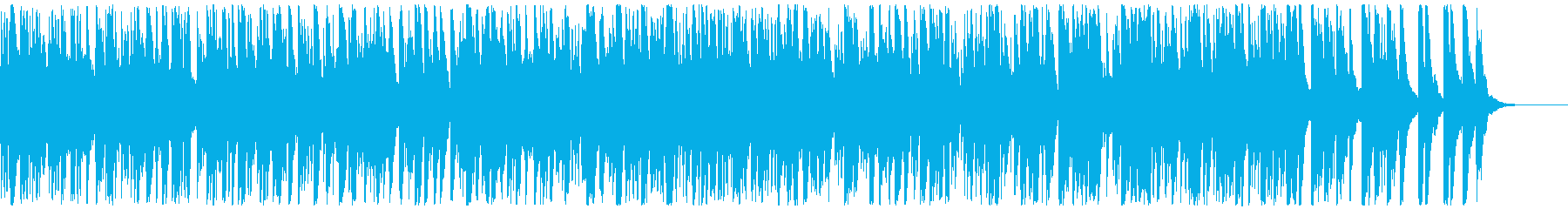 南米系の明るいインスト曲の再生済みの波形