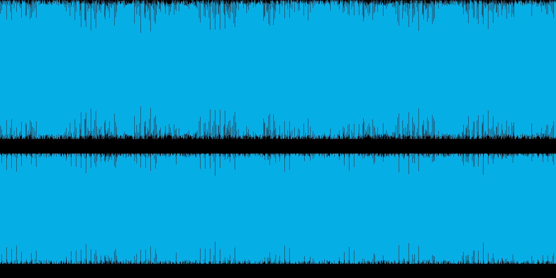 ゲーム用BGM 激しめのギターインストの再生済みの波形