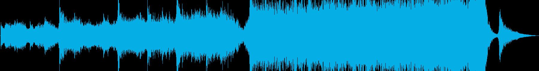 美しい映画のサウンドトラックの再生済みの波形