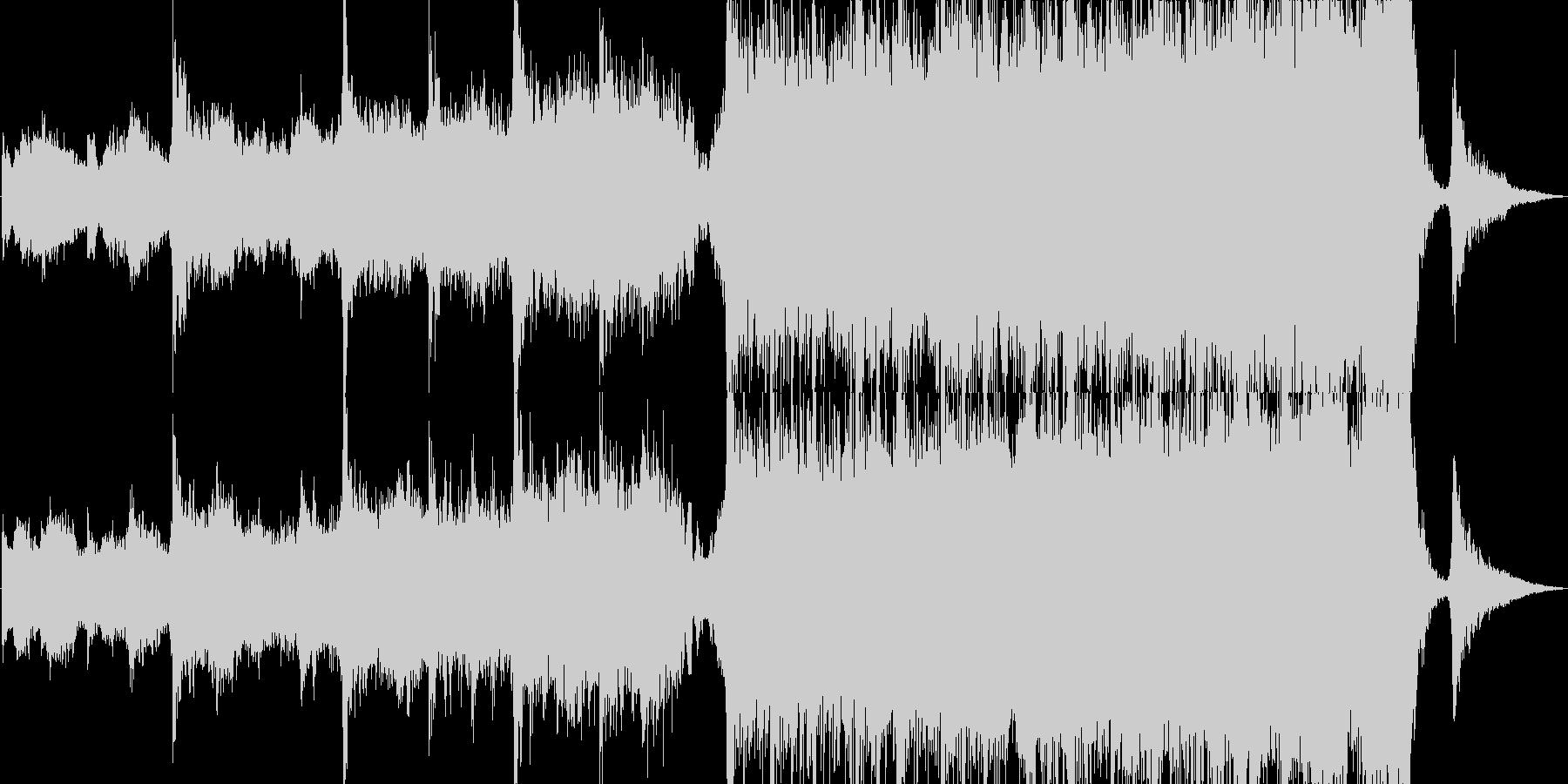 美しい映画のサウンドトラックの未再生の波形