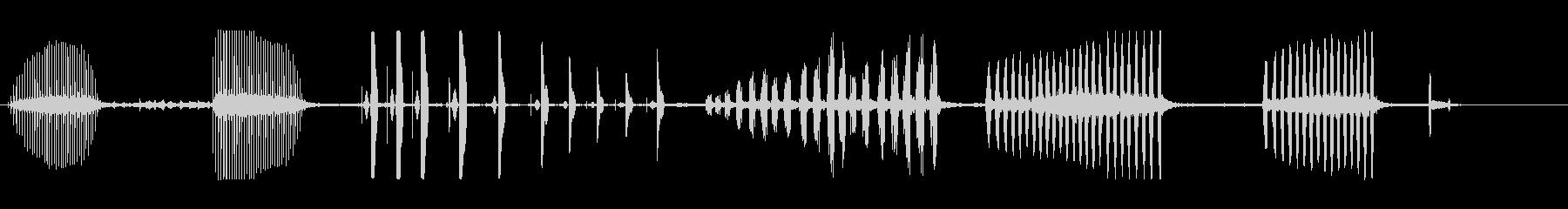 ブラックピークピコネグレの未再生の波形
