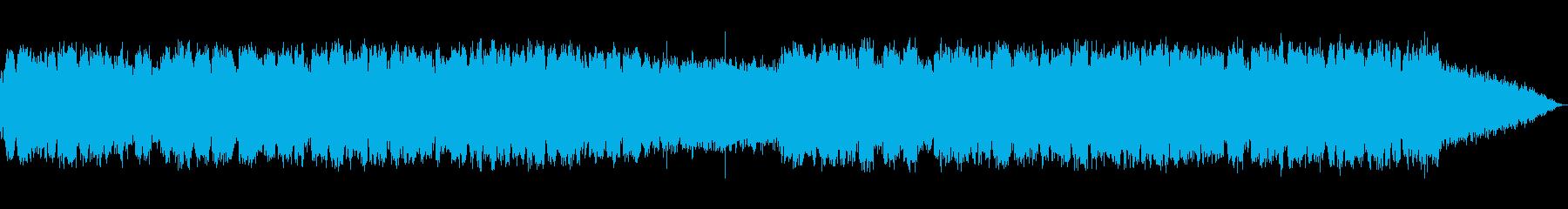 ひっそりとした静かな笛の音楽の再生済みの波形