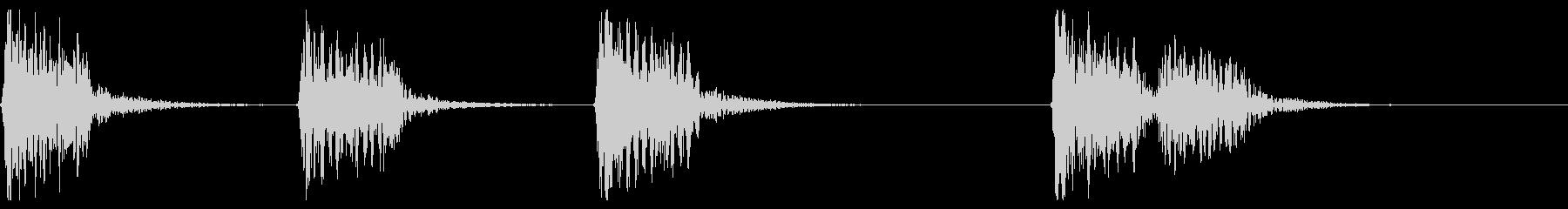 男の ボサノバ ナイロンギターの未再生の波形