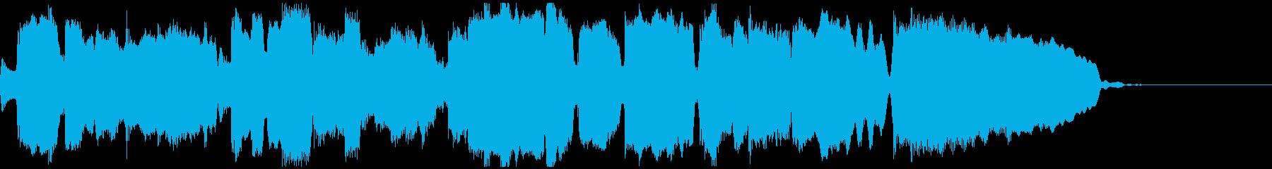 ソプラノサックスとギターのジングルの再生済みの波形
