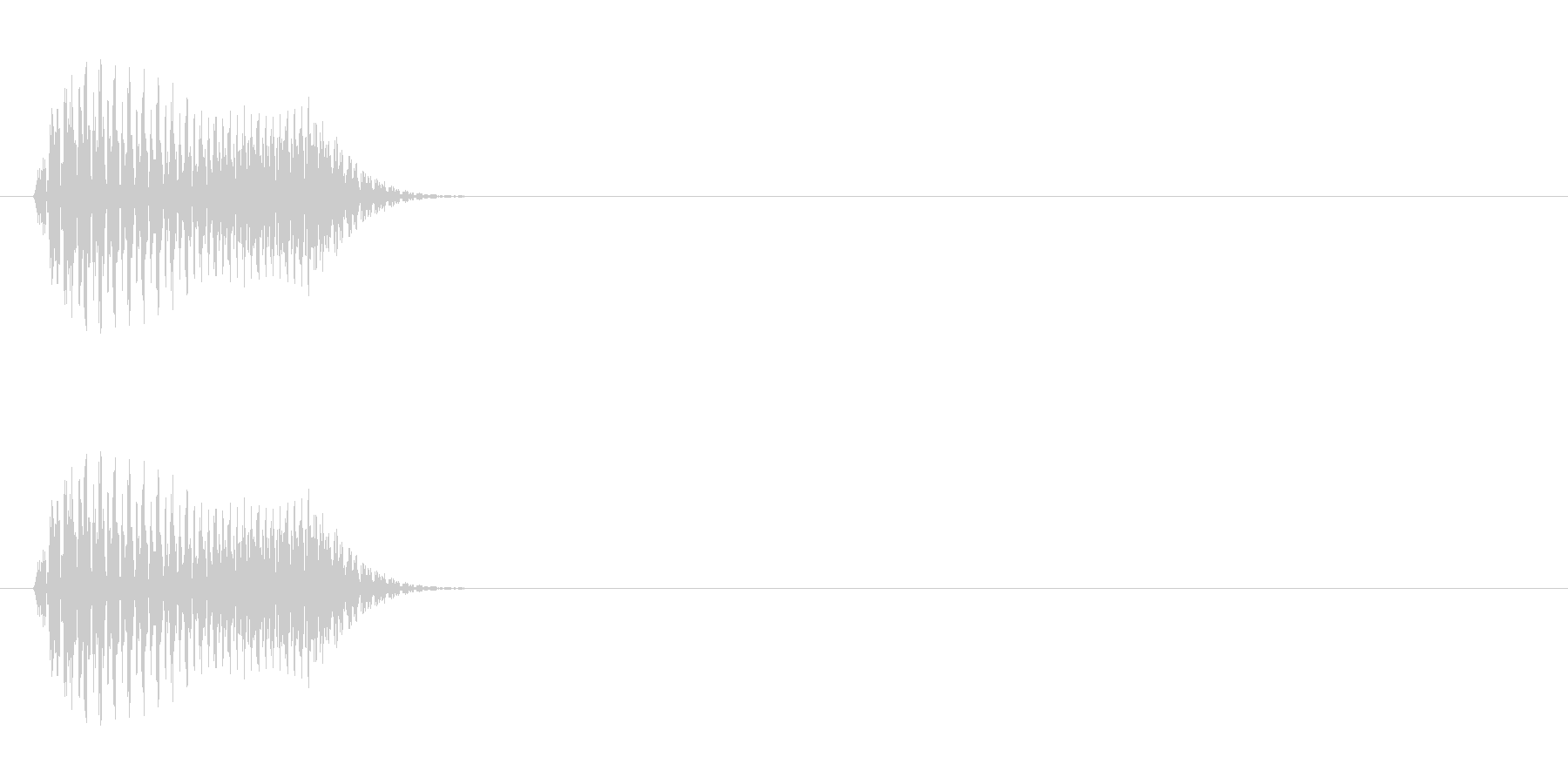 エイリアン 発声 65の未再生の波形