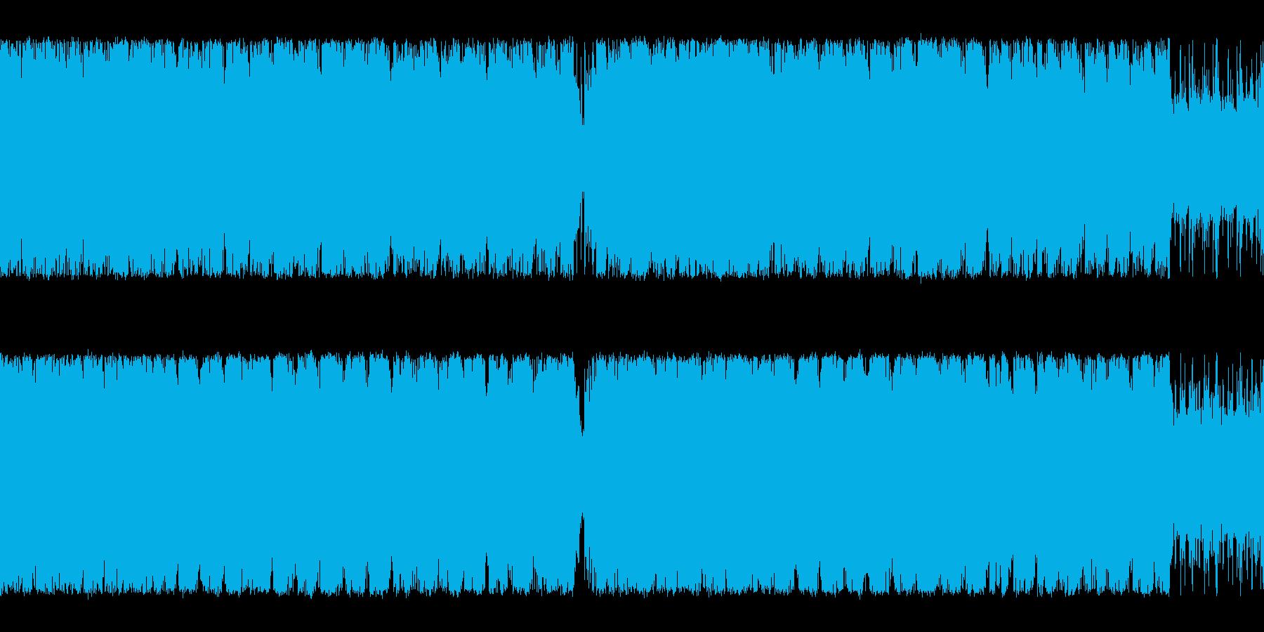 オーケストラとクワイア編成のループ仕様曲の再生済みの波形