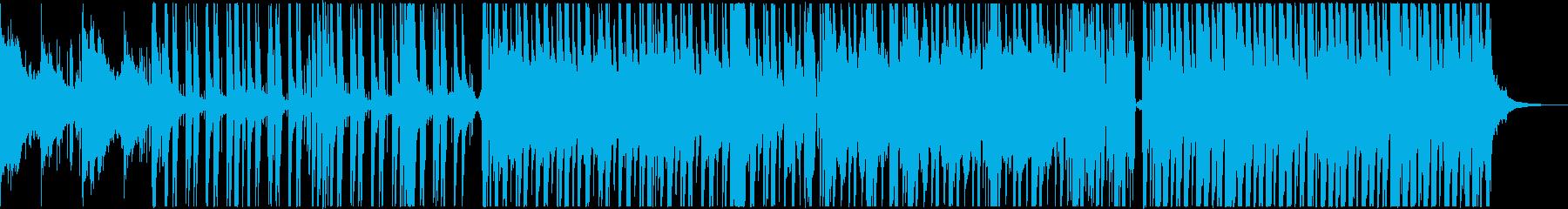 シンセとカリンバが融合したダンスチューンの再生済みの波形