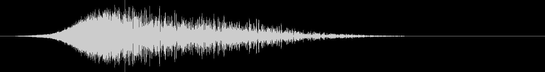 シューバン:上昇して爆発する音2の未再生の波形