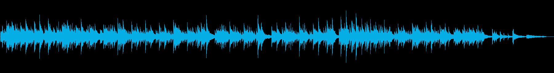 ゆっくりと切ない抒情的なピアノ楽曲の再生済みの波形