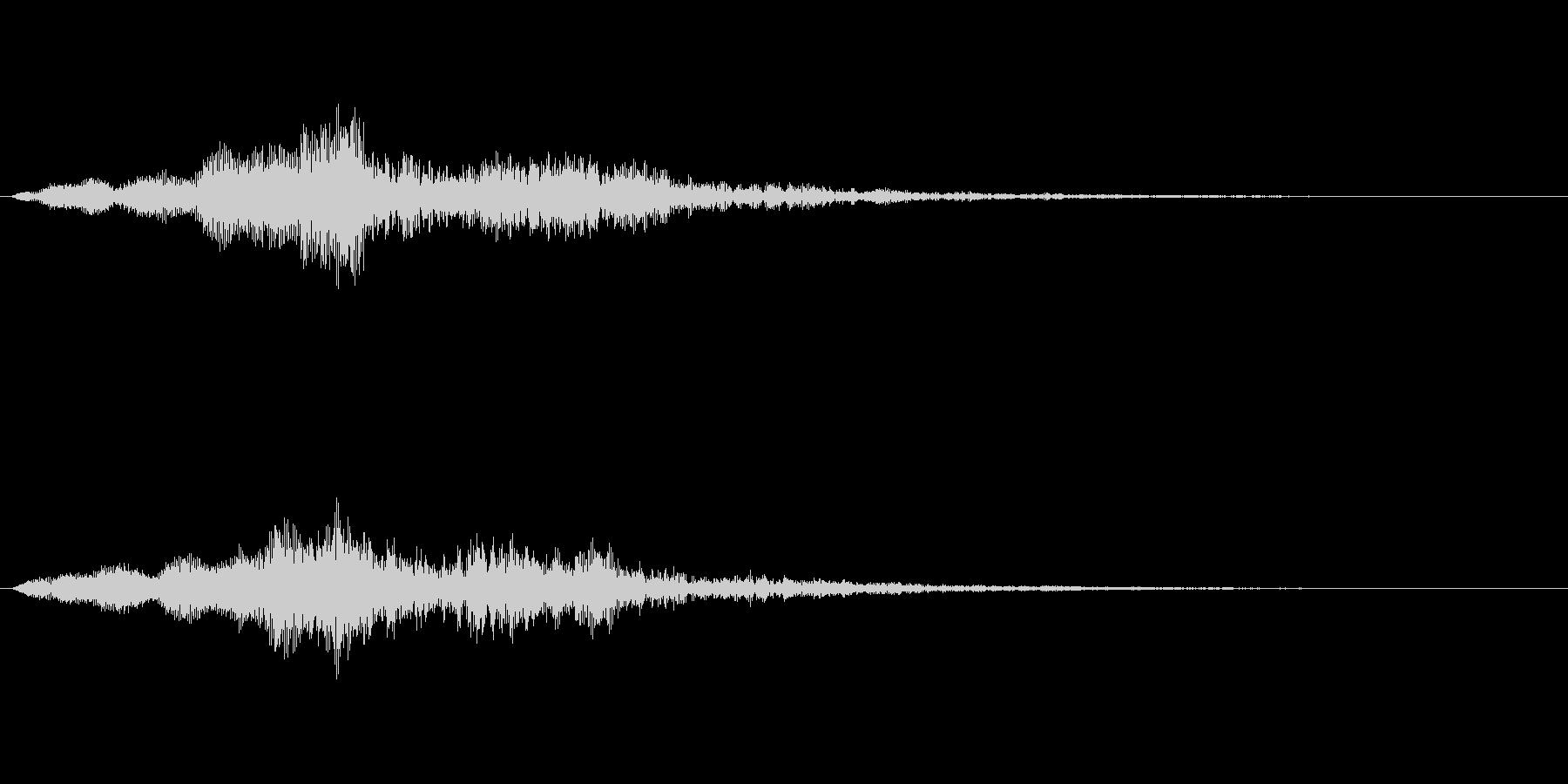 【単音・シリアス01-2】の未再生の波形