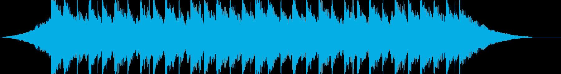 CM、サウンドロゴ、透明感のあるアコギ曲の再生済みの波形